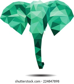 Creative polygonal elephant/Polygonal elephant/Vector