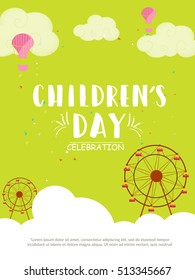 Creative poster or banner of children's day celebration.