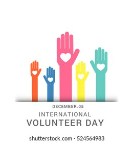 Creative poster or banner concept of international volunteer day.