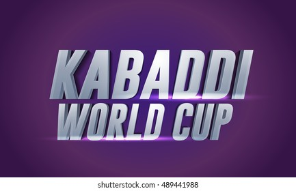 Creative poster or Banner design with grungy background for kabaddi championship League concept.