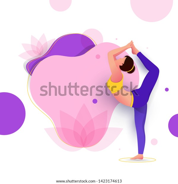 Creative Poster Banner Design Illustration Woman Stock Vector Royalty Free 1423174613