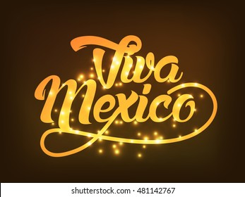 Creative poster or banner of viva mexico,Mexican holiday.