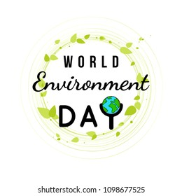 Creative Poster Or Banner Of World Environment Day