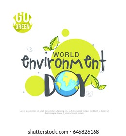 Creative Poster Or Banner Of World Environment Day.