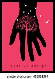 creative poster design for save tree.