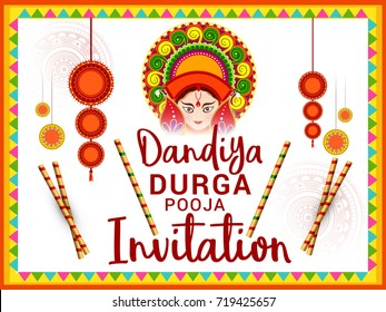 Durga Puja Invitation Card Images Stock Photos Vectors