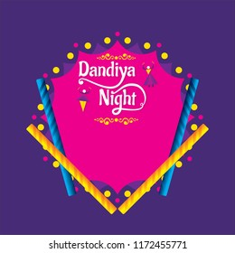 Creative Poster Or Flyer Of Dandiya night Invitation Card Background.