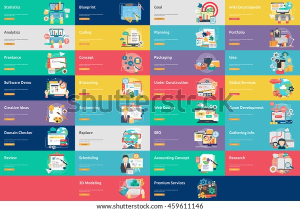 Creative Process Conceptual Design   Banner Set
