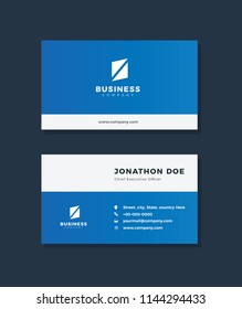 Creative and professional business card design, Clean visiting card, Contact card and name card design template