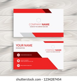Creative and professional business card design Clean visiting card, Contact card and name card design vector