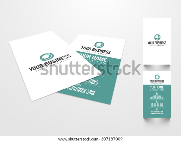 Creative Professional Business Visiting Card Design Stock