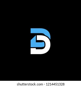 Creative Professional Initial Letter DD Logo Design Using Letters D D | Professional Letter DD Logo Design in Vector Format