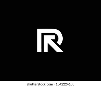 Creative Professional Trendy Letter PR RP Logo Design in Black and White Color , Initial Based Alphabet Icon Logo