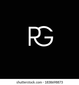 Creative Professional Trendy and Minimal Letter RG PG Logo Design in Black and White Color, Initial Based Alphabet Icon Logo in Editable Vector Format