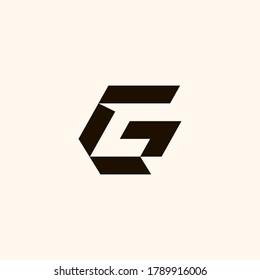 Creative Professional Trendy Monogram G GC CG C Logo Design in Black and White Color, Initial Based Alphabet Icon Logo