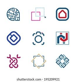 Creative puzzle edit future IT software  technology development logo company
