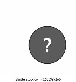 creative question mark symbol icon