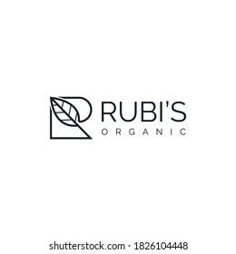 Creative R + Leaf Logo illustration for your company/brand.