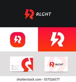 Creative R letter logo icon sign vector design