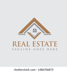 Creative Real estate logo vector graphic element template