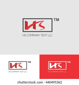 Creative Red HS Logo Design for Business
