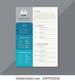 Creative resume template / CV, displaying your profile - Vector