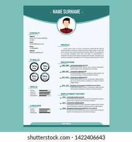 Creative Resume Template Design Vector