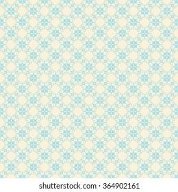 creative retro flora design pattern background vector
