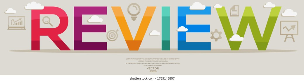 Creative (review) Design,letters and icons,Vector illustration.