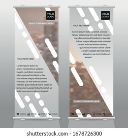 creative Roll up brochure flyer banner design template vector, abstract , modern & new x-banner, rectangle size.