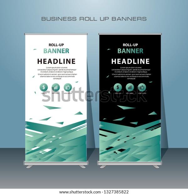 Creative Roll Design Standing Banner Template Stock Vector