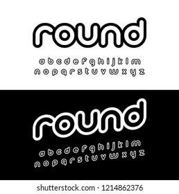 Creative rounded alphabet. Typography modern style font set for logo, Poster, Invitation. vector illustrator
