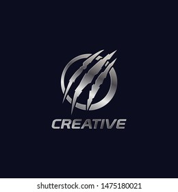 Creative Rounded Logo With Claw