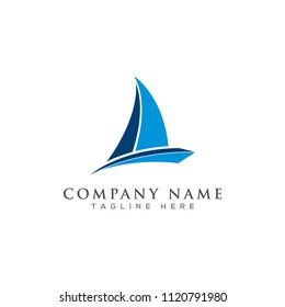 creative sailing logo design