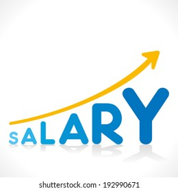 creative salary increment growth graphics design vector