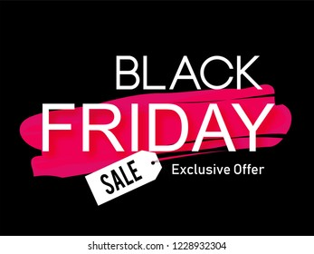 Creative sale abstract or poster for Black Friday Sale or Offer with nice and creative design and typography illustration in a background.