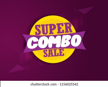 Creative sale abstract or poster, card for Super combo sale with creative design illustration.