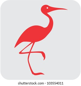 Creative Sandhill Crane Bird Icon