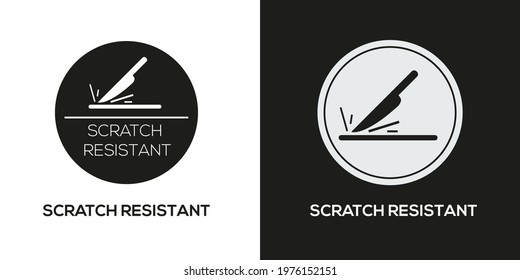 Creative (Scratch resistant) Icon ,Vector sign.