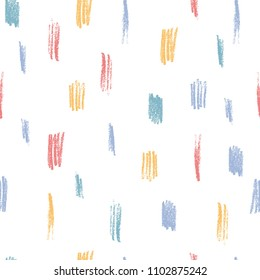 Creative seamless pattern with pencil scribbles. Colorful abstract background.