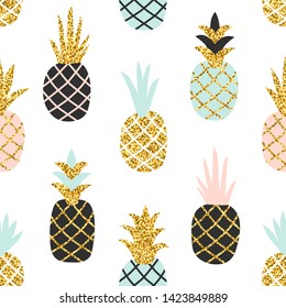 creative seamless pattern pineapple gold 260nw 1423849889
