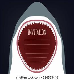 Creative Shark Attack Invitation in eps8