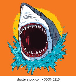 Creative Shark Attack - vector