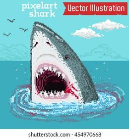 Creative Shark Attack - vector eps 10