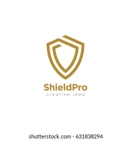 Creative Shield Concept Logo Design Template