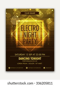 Creative shiny Template, Banner or Flyer design Musical Night Party celebration.