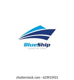 Creative Ship Concept Logo Design Template