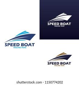 creative Ship logo, nautical sailing boat icon vector design