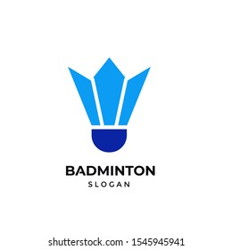 Creative Shuttlecock Badminton sport logo vector design template