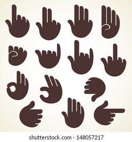 creative sign or signal show by hand finger stock vector